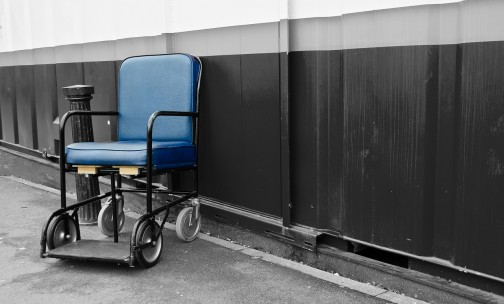 closing hospitals wheelchair outside