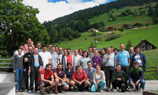 Group picture from the 2014 Darklight international meeting held at Sexten (South Tyrol, Italy). The meeting gathered some of the recognised leaders in the field, including a founding father of modern cosmology, Nick Kaiser (University of Hawaii, 5th standing from the right). At his left, John Peacock (University of Edinburgh), another renowned cosmologist with whom the young members of Darklight had the be